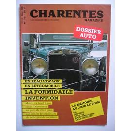 Charentes Magazine N°70. Dossier auto;Gordini, Chassagne,Mathis, Laspougeas, Cournil.....