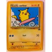 Pokemon Promo Carte Francaise Black Star N� 28 Pikachu Surfeur ( Version 2001 )