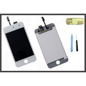 Vitre Tactile Apple Ipod Touch 4 4g Blanc + Ecran Lcd Outils + Adh�sifs