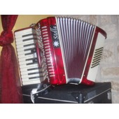 Accordeon Piano Chromatique Stella Rouge 26 Touches Piano Et 48 Basses