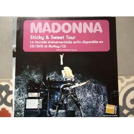 "PLV carrée Fnac Madonna ""Sticky and Sweet Tour"" 30cm X 30 cm"