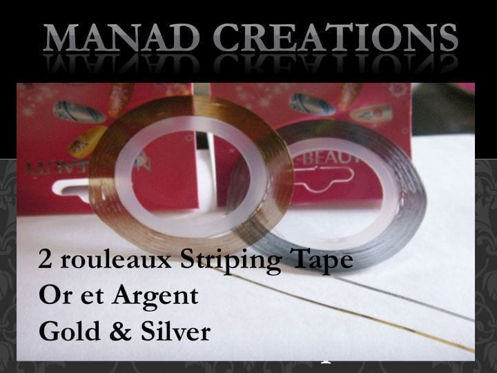 2 X Striping Tape Couleur Or Dore Gold Et Argent Silver Roll Fil Autocollant