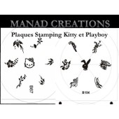 Plaque Tampon Stamping Image Plate Roue Nail Art Neuve Kitty Et Playboy