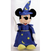 Superbe Grande Peluche Disneyland Mickey Magicien Fantasia 75 Cm
