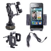 Duragadget Support Voiture Pour Samsung Galaxy Ace, Galaxy S Ii, Galaxy Note, Galaxy S, Wave Ii, Galaxy S Scl, Galaxy Mini, Wave 3, Galaxy S Plus, Wave, Galaxy Nexus, S5660, Omnia W, Wave 578, B7510,