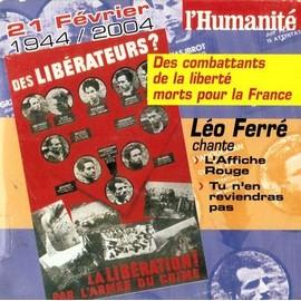 LEO FERRE - L AFFICHE ROUGE / TU N' EN REVIENDRA PAS