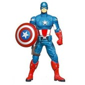 Captain America - The Avengers Mighty Battlers Wave 1 - Figurine Shield Spinning Captain America 15 Cm