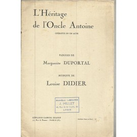 L'HERITAGE DE L'ONCLE ANTOINE