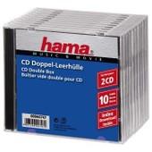 Hama 44747 - Bo�tier vide double pour CD x10 pi�ces