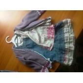 Ensemble Robe Jeans Chemise Veste Petite Fille 18 Mois