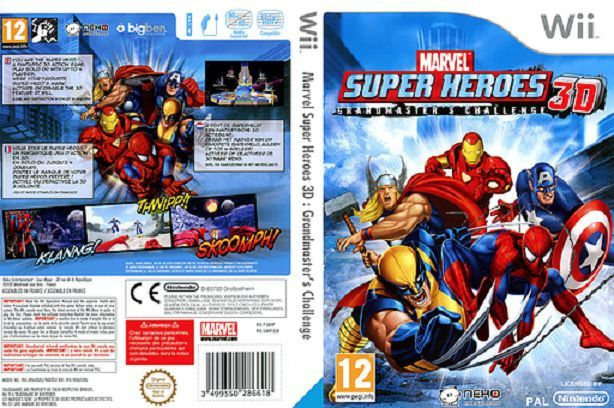 Marvel Super Heroes 3d Grandmasters Jeu Wii Masques De Super Héros Lunettes 3d