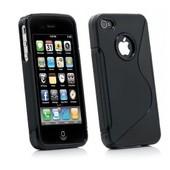 Coque Silicone Noire Pour Iphone 4/4s