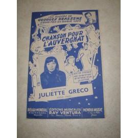 chanson pour l'auvergnat enregistré par Juliette gréco