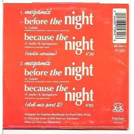 cds because the night radio version 4'20 & club mix part 2. (patti smith & bruce springsteen) 1993