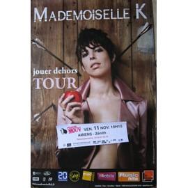 Affiche concert - Mademoiselle K