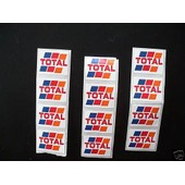 12 Autocollants Total Pour Trains Citernes - Echelle Ho 1/87