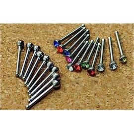 Lot De 20 Piercing Percing Nez Barre Acier Chirurgicale 8x0,8mm