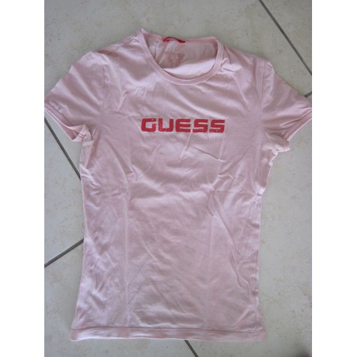 T shirt <strong>guess</strong> logo au dos