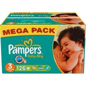 Pampers Baby Dry Mega (4-9 Kg) X126 - Pampers