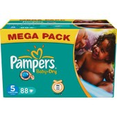 Pampers Baby Dry Mega (11-25 Kg) X88 - Pampers