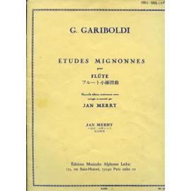 Etudes Mignonnes pour Flûte - corrigée et annotée par Jan merry - introduction français-japonais