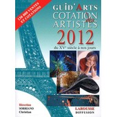 Dictionnaire Cotation Des Artistes 2012 de Christian Sorriano