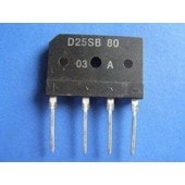 Single-phase rectifier bridge D25SB80 pour induction