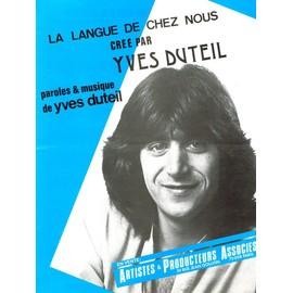 YVES DUTEIL PARTITION LA LANGUE DE CHEZ NOUS
