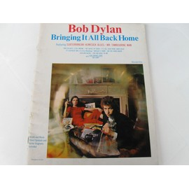 SONG BOOK BON DYLAN BRINGING IT ALL BACK HOME