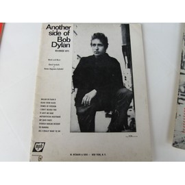 songbook BOB  DYLAN/ another side of bob dylan