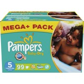 396 Couches Pampers Baby Dry Taille 5 (11 � 25 Kilos) Mega+Pack