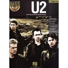 BASS PLAY ALONG VOL.41 U2 TAB + CD