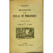 Dialogues Entre Hylas Et Philonous. de Berkeley