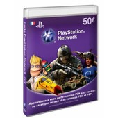 Carte Prepayee Playstation Network (Psn) 50€ Psp / Ps3