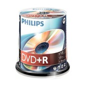 PHILIPS DVD+R, 16X, 100 PI�CES, 4,7GB