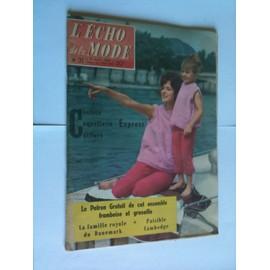 L'�cho De La Mode 2 Aout 1959 Num�ro 31