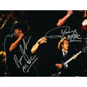 Ac/Dc - Angus Young - Brian Johnson - Photo Dedicacee