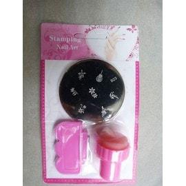 Kit Manucure Decoration Ongle Nail Art Stamping