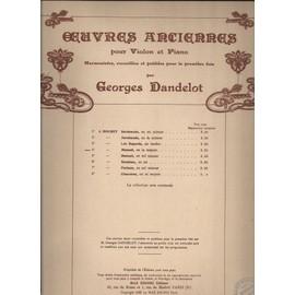 oeuvres anciennes pour violon et piano. n°4 : menuet, en la majeur.