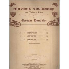 """oeuvres anciennes pour violon et piano. - N° 3 """"les regards"""" (air tendre)"""