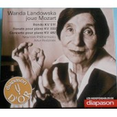Cd Diapason D'or - Les Indispensables N� 11, Avril 2010. Wanda Landowska Joue Mozart. 1956.