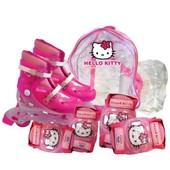 D'arp�je - Hello Kitty - V�los Et Patinettes - Rollers 30/33 - Sac Cristal - Rollers En Ligne - Set De Protections Hello Kitty