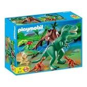 Playmobil 4171 - Tyrannosaure Avec Velociraptors