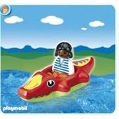 Playmobil 6764 - Fillette Avec Bateau Crocodile