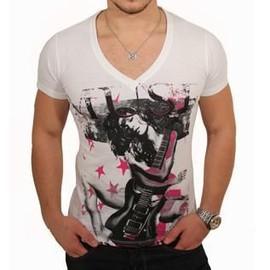 T-Shirt Mickael Vendetta Print Muse Blanc