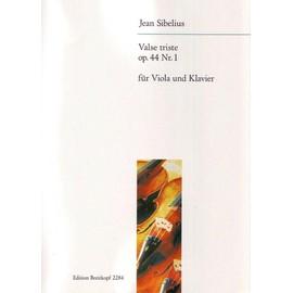 Valse triste op. 44 Nr. 1 für Violine und Klavier / Violon et Piano