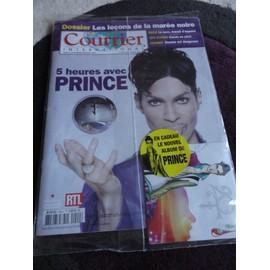 Revue Courrier International 1029. 5 Heures Avec Prince Et En Cadeau Le Nouvel Album De Prince