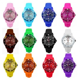 Montre Femme Homme De Couleur Bracelet Silicone Mode Fashion Watch Fantaisie