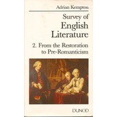Litterature Anglaise - Tome 2 de Adrian Kempton