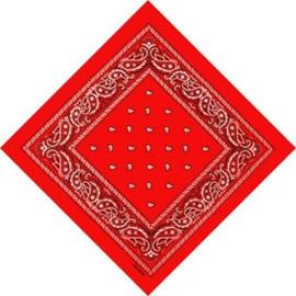 Bandana Foulard 100% Coton 55cm X 55cm - 19 Coloris Aux Choix !!! Noir Blanc Rouge ...